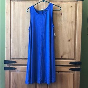 Blue Old Navy sleevless swing dress. Large. NWT.